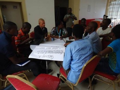 Group Work on the second Day of the Planning Meeting of WaterAid and Partners (Group 2)