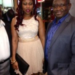 UK: Fatima Jabbe steps out with Former President of Sierra Leone at the Premiere of her latest film