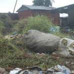 LIBERIA: Garbage disposal at Coal Field Community