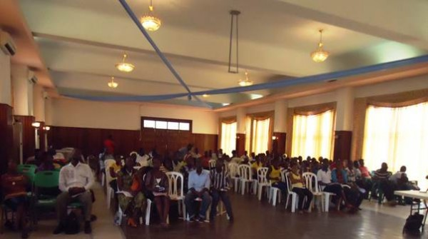View of the audience at the Monrovia City Hall, during the observance of World Toilet Day