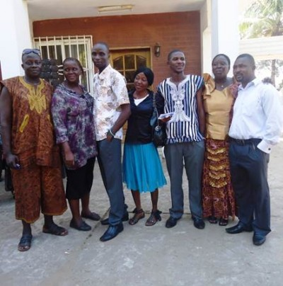 Officials-elect of the WASH Media Network-Sierra Leone (Coordinator-elect 3rd from right)
