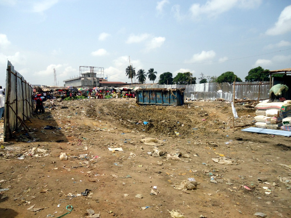 "The once ""Buy Your Dirt"" site which was over taken by huge piles of garbage like a mountain size is now cleared and a fence constructed by PCC authorities to manage the garbage"