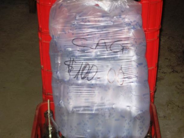 A sack of a locally produced mineral water now sold for 100 Liberian dollars (a little over 1USd)