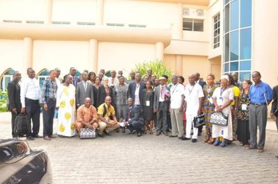 Participants and other Stakeholders in a group photo, following the official opening of the Workshop