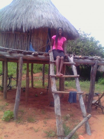 Chiza at her grandmother's homestead in Binga
