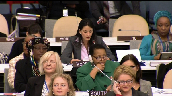 Representatives and delegates at the 2nd meeting, Commission on the Status of Women - 58th session