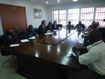 Meeting between the Living Water International and the Ministry of Health and Social Welfare in Monrovia