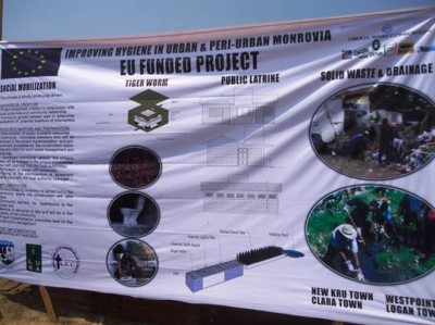 Banner depicting activities of the EU Water Facility Project
