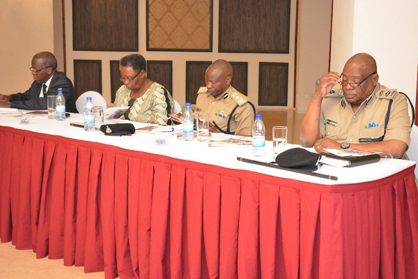 Judge (rtd) Thomas Mihayoof the High Court of Tanzania, Dr Helen Kijo-Bisimba, Executive Director, Legal and Human Rights Centre (LHRC), Deputy Inspector General of Police (DIGP), Abdulrahman Kaniki, and Paul Chagonja, Head Special Operations and Training Tanzania Police Force.