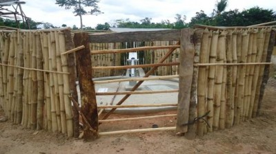 Hand pump constructed by LWI-Liberia in Gwekpozue Town