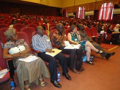 Participants at the 2nd Joint Sector Review of the WASH Sector of Liberia taking place at the Monrovia City Hall