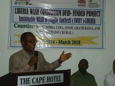 Minister of State Without Portfolio, Commany Wesseh officially launched the Project, representing the Office of the Liberian President