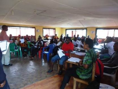 Participants at the One Day Ebola Prevention Awareness Workshop in Zorzor, Lofa County, organized by the Lutheran Development Service in Liberia (LDS)