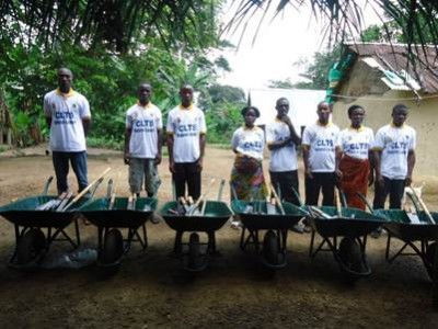 Materials provided the 6 Open Defecation Free (ODF) Communities by LWI-Liberia to enhance Community Led Total Sanitation (CLTS)