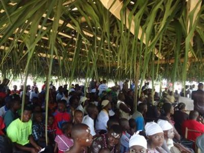 Participants at the Community ODF Celebration in Kangar Town, Gigi District, Margibi County