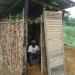LIBERIA: Blind man utilizes CLTS knowledge, constructs toilet