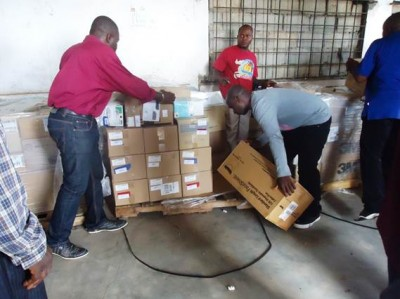 Consignment of Personnel Protective Equipment (PPEs) and other medical supplies donated to the Phebe and Curran Hospitals in Bong and Lofa Counties, by the Lutheran Church in Liberia