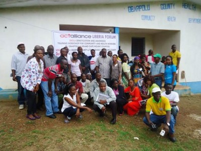 Training of Trainers' Workshop on Ebola Sensitization, Awareness and Prevention in Bopolu, Gbarpolu County, conducted by the Lutheran Development Service in Liberia (LDS)