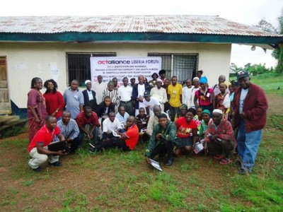 Training of Trainers' Workshop on Ebola Sensitization, Awareness and Prevention in Tiene, Tewor District, Grand Cape Mount County, conducted by the Lutheran Development Service in Liberia (LDS)