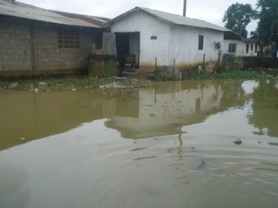 Flooding and poor sanitation In Logan Town Community on the Bushrod Island