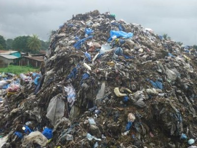 Mountain of Garbage in Poultry Farm Community, Paynesville