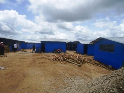 Ebola Treatment Unit under construction in Bong County