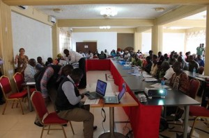 Participants at the WASH Sector Workshop