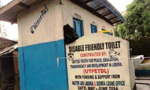 Disabled Friendly Latrine constructed by WaterAid in District # 9, Montserrado County-Liberia