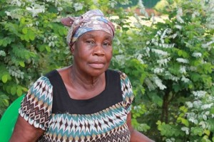 Madam Annie Diggs , another beneficiary of the project