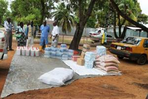 Donation to the ELWA-2 Ebola Treatment Unit by ACT-Alliance Liberia Forum