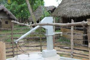 A newly constructed water point in Jarwajah, Gola Konneh