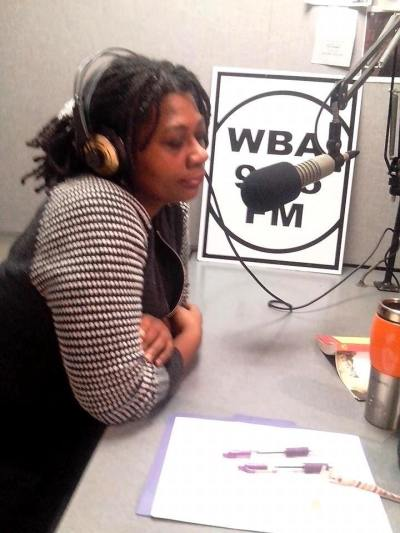 Photo Credit; DK 4tos. Dr. Cheryl Sterling, Director of Black Studies Program and a Professor in the English Department at City College, New York discusses the conclusion of Fall 2014 Chinua Achebe Legacy Series on No Questions Asked Radio Show broadcast on WBAI, 99.5 FM in New York City