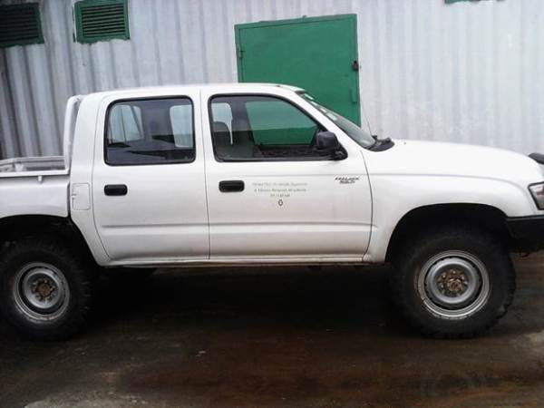 Vehicle donated to the WASH Reporters & Editors Network of Liberia by Oxfam Liberia