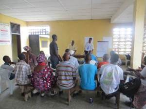 Training of Community Leaders/Residents about Ebola