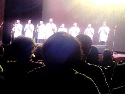 Ladysmith Black Mambazo sings their popular hit song Homeless at Brooklyn College Center for the Performing Arts 60th Anniversary Season