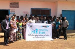 """Group photo, following the official launch of """"Healthy Start"""", at the Careysburg Health Center"""