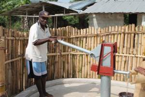 One of the hand pumps provided by Living Water International for the schools, also used by community residents