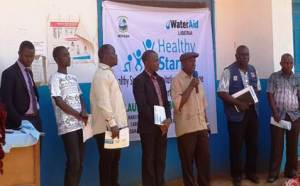 """Official launching ceremony of """"Healthy Start"""" by Liberia Health Ministry and WaterAid"""