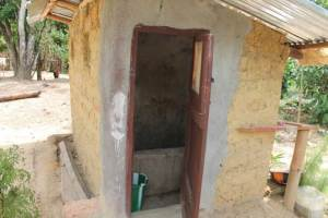A toilet/bathroom in Karnga Town, built by a resident due to the CLTS Initiative by LWI Liberia
