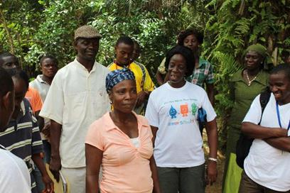 A group of NLs visits a previous ODF village and hears advice from the town chairlady