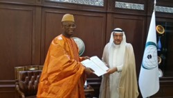 Amb. Kargbo presenting Letters of Credence to OIC Sec. Gen.