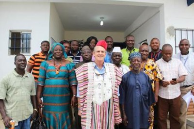 Group photo after the honoring program Piette deVries, Staffer & Traditional Leaders