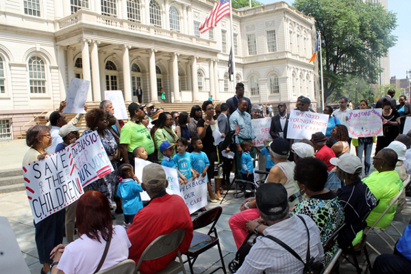 New York City Council Member Laurie A. Cumbo and her colleagues stood alongside children and daycare providers calling on the Administration for Children's Services not to close daycare centers citywide
