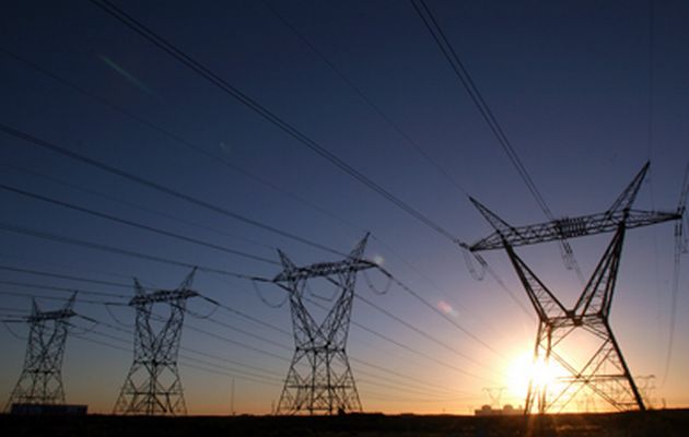 South African power lines