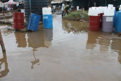 Flooding in the Free Port Community in Monrovia