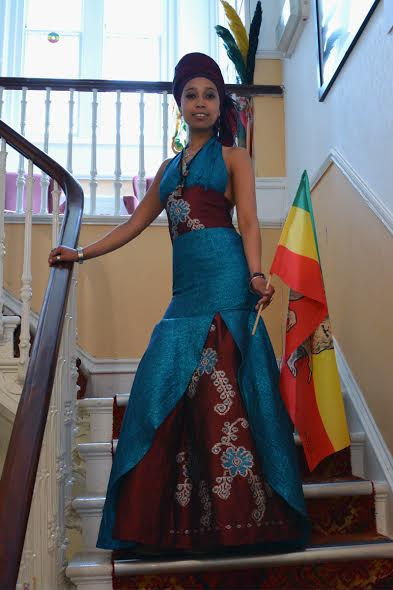 Addishiwot Asfawosen, Artist, Photographer, African Costumes & Jewelry Designer at Fairfield house in bath, England