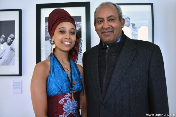 Addishiwot Asfawosen & Prince Michael Mekonnen, the grandson of Emperor Selassie attend Roots Ethiopian Photo Exhibition at Fairfield House in Bath, England