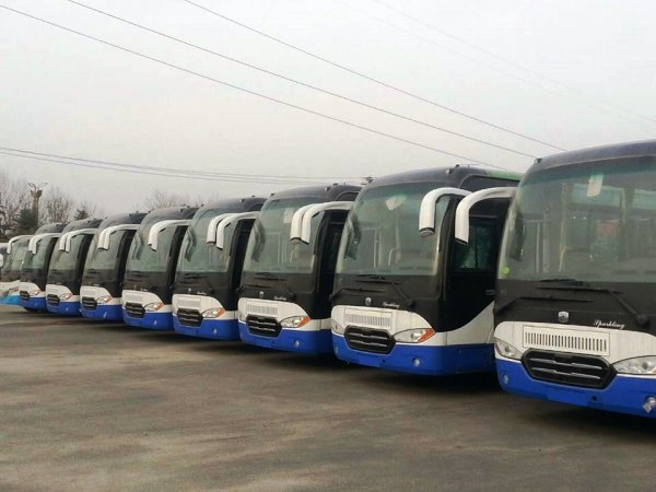 Some of the 100 buses bought by the Government of Sierra Leone from China