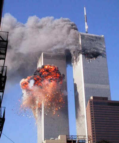 Horrifying images of the twin towers that were completely destroyed during the September 11, attack