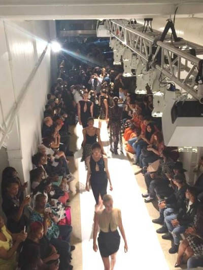 Models presents BlackPhumelele's Collection at Punto Space during her launch at New York Fashion Week 2015